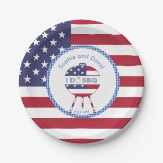 Partie unique de drapeau des Etats-Unis 4 juillet Assiettes En Papier