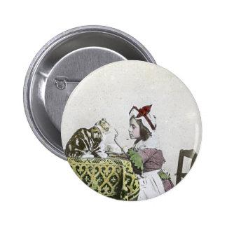 Partie vintage de temps de thé avec Kitty vilain Pin's