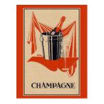 Partie vintage et anniversaire de champagne cartes postales