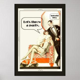 Partie vintage simplement fabuleuse d'art déco des affiche