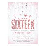Parties rose du bonbon 16 à regard de carton d'invitation  12,7 cm x 17,78 cm