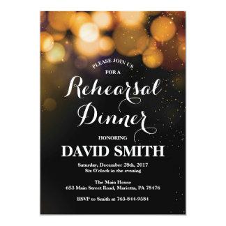 Parties scintillantes d'or de carte d'invitation carton d'invitation  12,7 cm x 17,78 cm