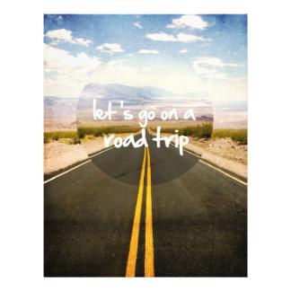 Partons en voyage par la route tract personnalisé
