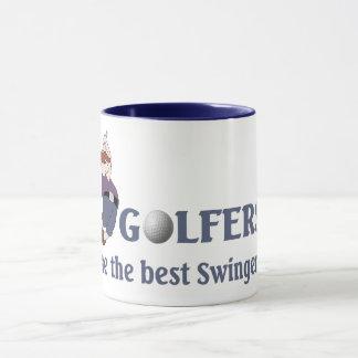 Partouzeurs de golf tasses