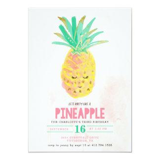 Party comme une invitation d'anniversaire d'ananas