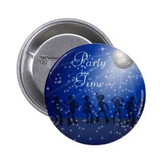 Party le style de disco, bouton rond de pouce de 2 badge