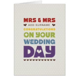 Pas directement conception - Mme et Mme - jour du Carte De Vœux