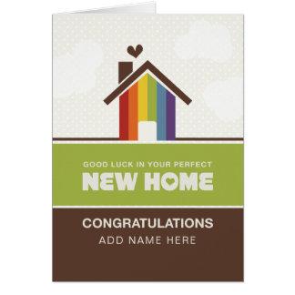 Pas directement conception - nouvelle maison carte de vœux