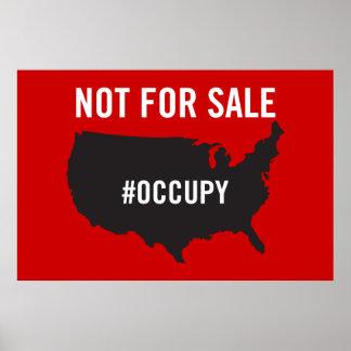 Pas en vente - occupez Wall Street - nous sommes l Poster