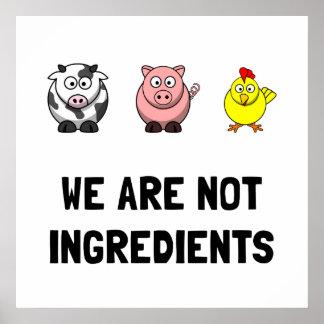 Pas ingrédients posters