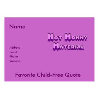 Pas matériel de maman modèles de cartes de visite
