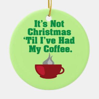 Pas Noël jusqu'au café Ornement Rond En Céramique
