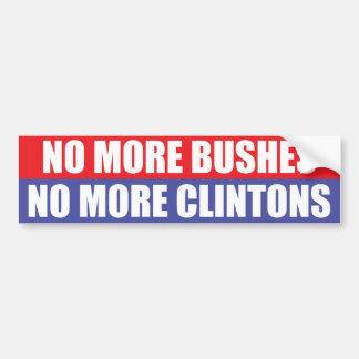 Pas plus de buissons, pas plus de Clintons Autocollant De Voiture