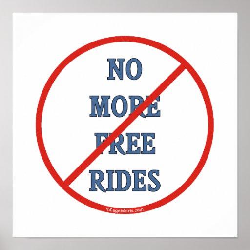 Pas plus de tours gratuits posters