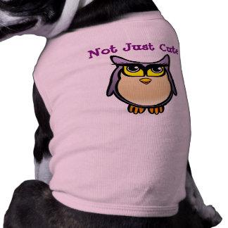 Pas simplement bande dessinée pourpre customisée t-shirt pour chien
