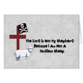 Pas un mouton insensé carte de vœux