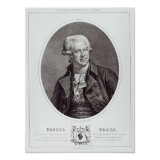 Pascal Paoli, 1872 Posters