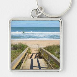 Passage couvert au porte - clé de plage porte-clés