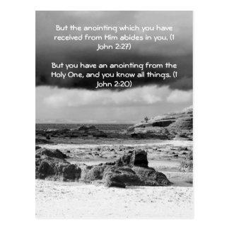 Passage de bible, bord de la mer et b& dramatique carte postale