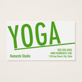 Passage de classe du carte de visite 10 de yoga