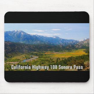 Passage de Sonora de la route 108 de la Californie Tapis De Souris