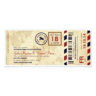 Passage d'Embarquement avion invitation de billet