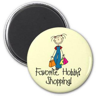 Passe-temps de favori d'achats magnet rond 8 cm
