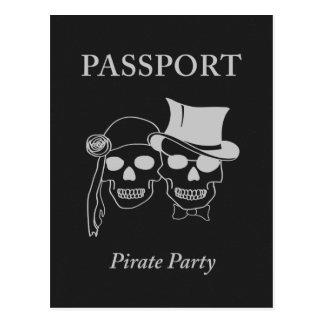 passeport à une partie de pirate cartes postales