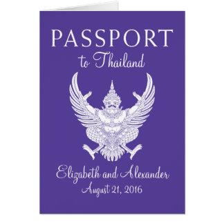 Passeport de mariage de Samui Thaïlande de KOH Cartes De Vœux