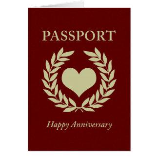 passeport heureux d'anniversaire cartes de vœux