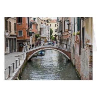 Passerelle à Venise Carte De Vœux