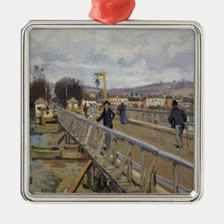 Passerelle d'Alfred Sisley | à Argenteuil Ornement Carré Argenté