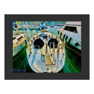 Passerelle de voilier de port de Spezia de La, Poster