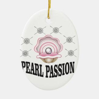 passion de perle ornement ovale en céramique