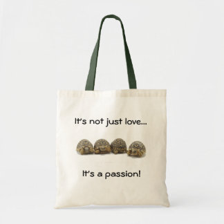 Passion de tortue sacs de toile