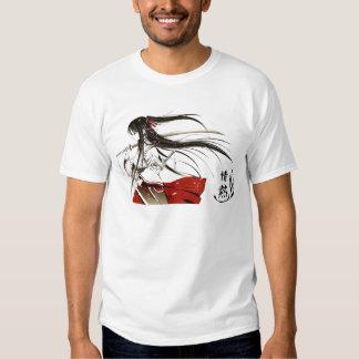 Passion japonaise - samouraï de fille t-shirt