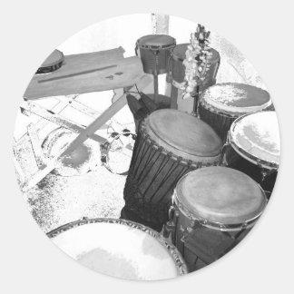 passion percussion sticker rond