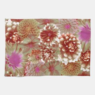 Pastel flowers serviettes éponge