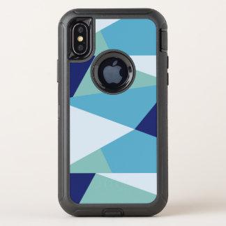 Pastel géométrique élégant de bleu marine et de