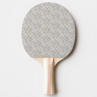 Pastel jaune vert de sirène raquette de ping pong
