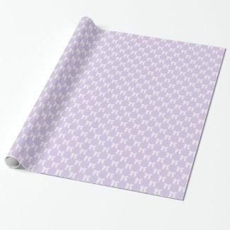 Pastel lilas de ressort avec les arcs blancs papier cadeau noël