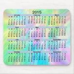 Pastel Mousepad de 2015 calendriers Tapis De Souris