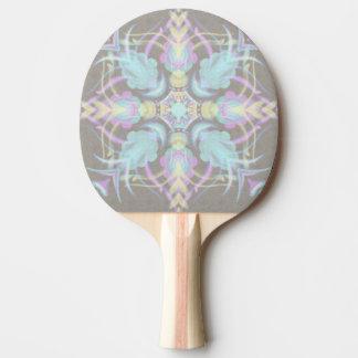Pastel sur le mandala concret de rue (variation) raquette de ping pong