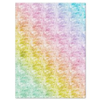 Pastels d'arc-en-ciel avec la texture graphique papier mousseline