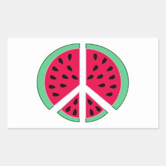 Pastèque de paix sticker rectangulaire