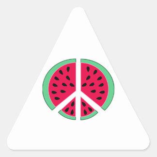 Pastèque de paix sticker triangulaire