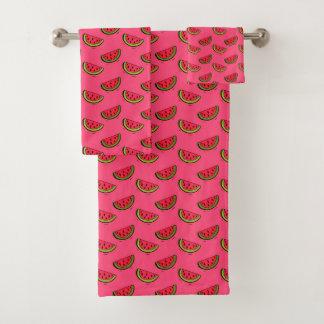 Pastèque d'été sur le motif rose