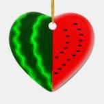 Pastèque I (de coeur) Ornement De Noël