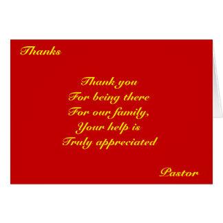 Pasteur de Merci Cartes
