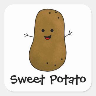 Patate douce sticker carré